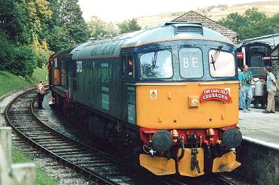 33 025 and 20 308 arrived back at Oxenhope with the 13.00 Keighley - Oxenhope 3/8/02 photo- D.Robinson