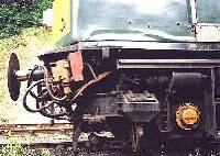 33208 with bent front-end after light collision on the M-H.R., 20/7/00. photo I.Kennett