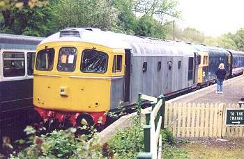 33065 on the buffers at Shepherdswell having arrived with the 16.45 from Eythorne